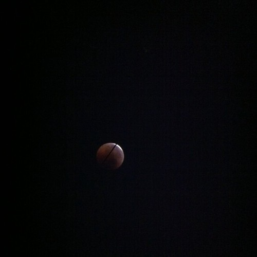 Ya se va viendo... #eclipselunar