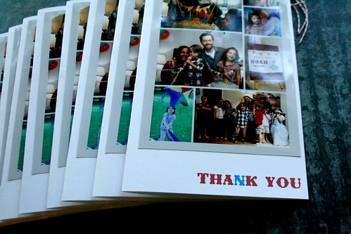 Noah's Thank You Cards