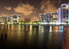 Hollywood Florida Intercoastal at night.