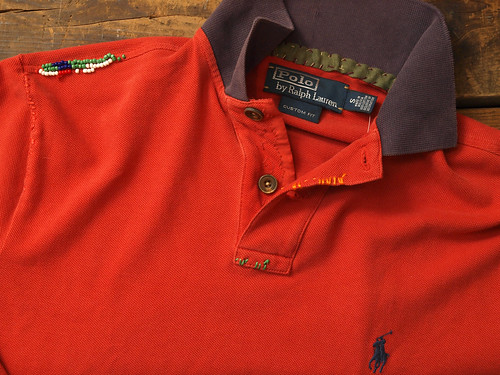 Ralph Lauren / Custom-Fit Stitched Mesh Polo