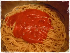 La pasta con la salsa