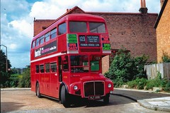 London Transport . RM208 VLT208 . Forest Road , Walthamstow , London . (AndrewHA's) Tags: bus routemaster ilford walthamstow manorhouse parkroyal forestroad londontransport aec route123 rm208 vlt208