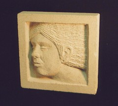"Bathstone Relief  Head • <a style=""font-size:0.8em;"" href=""http://www.flickr.com/photos/64357681@N04/5867064882/"" target=""_blank"">View on Flickr</a>"