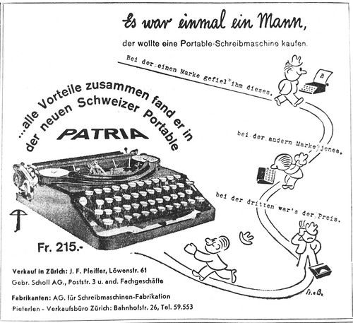 Patria portable typewriter