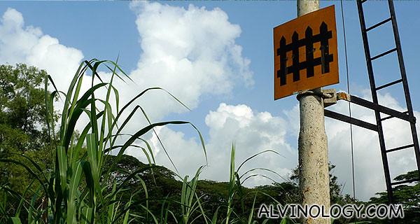 Rare railway signboard in Singapore
