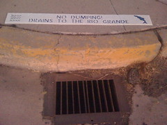 No Dumping Signs on City Drains by mikeysklar