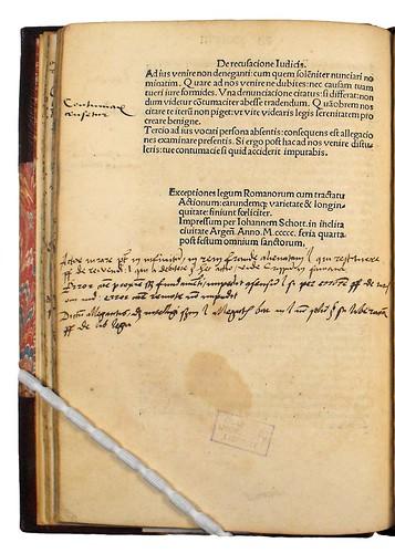Colophon of Exceptiones legum Romanorum