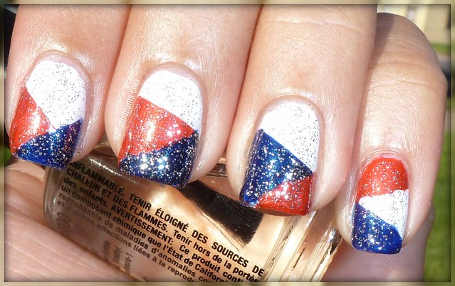 4th Of July Patchwork Mani