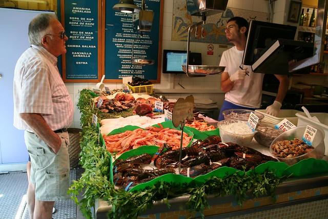 Seafood at La Paradeta