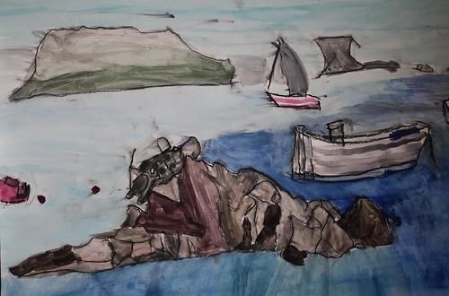 Alex King - Towards Herm Island