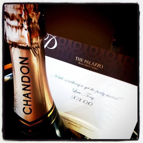 Champagne surprise, Palazzo, Las Vegas