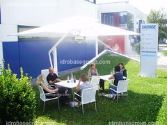 Ombrellone 360° (IdrobaseGroup) Tags: gardens umbrella fan chairs outdoor tables cooling misting fogging nebulization perfectcool idrobasegroup