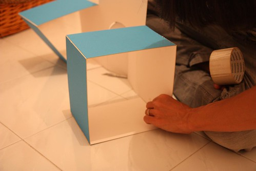taping the sides