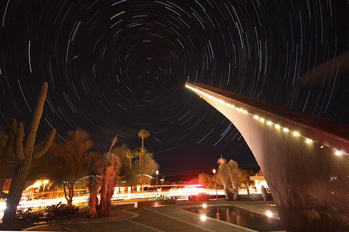 Northern Startrails above the Carefree Sundial