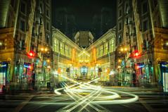 Way of the City (CarbonNYC [in SF!]) Tags: photoshop sf powellstreet nightshot longexposure lightstreams carbonnyc sanfrancisco bayarea california carbonsf