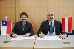 Cristian Bowen and Christian Weissenburger signing agreement