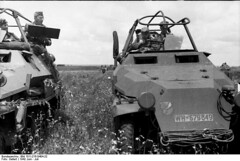 "Two German SdKfz. 251/6 halftrack • <a style=""font-size:0.8em;"" href=""http://www.flickr.com/photos/81723459@N04/14126346848/"" target=""_blank"">View on Flickr</a>"