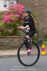 Unicycle Race : Horwich Festival of Racing (MarSan Photos) Tags: england girl bike sport race outdoors cycling action unitedkingdom competition unicycle equestrian horwich gbr greatermanchester