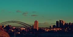 //Sydney (ACRM PHOTOGRAPHY) Tags: sydney contrast sydneyharbour sunset evening warmth haze turquoise sky blue sun clouds urban urbanlandscape green city bridge outside scene landscape life form icon iconic perspective layers skycrapers cityscape worldcity world travel view texture sea ocean harbour