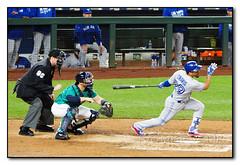 Travis Swings Through a Hit (seagr112) Tags: seattlemariners seattle torontobluejays safecofield mlb baseball baseballgame washington devontravis
