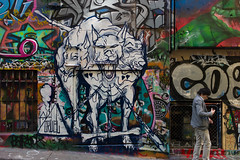(th3butcherofbilbao) Tags: melbourne street leica art cruel