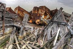 5) A Lone Screw (95wombat) Tags: newyork abandoned statenisland derelict boneyard hdr vessels arthurkill corroding marinegraveyard
