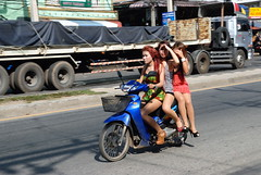 SOUTHERN THAILAND (Claude  BARUTEL) Tags: truck thailand south muslim islam border transport southern thai malaysia terrorism conflict prostitutes trucking customs sadao insurgency dannok frontie