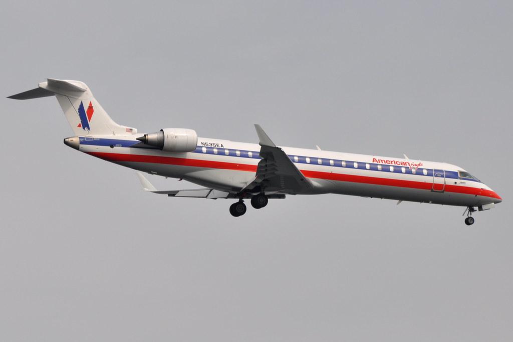 American Eagle - Bombardier (Canadair) CRJ-702 (CL-600-2C10) - N535EA - John F. Kennedy International Airport (JFK) - June 20, 2011 1 147 RT CRP