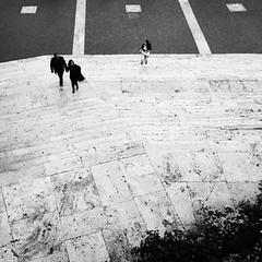 Scalinata (bebo82) Tags: people blackandwhite bw rome roma persone staircase di biancoenero spagna scalinata canonixus100is powershotsd780ispiazza