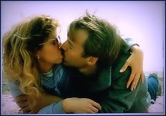 Ocean Kiss ~ Who-hoo !!!!   April 1986 ~ (Robert M. Hoge (AKA - Lasre)) Tags: love beach me sand surf janet coolest morelove roberthoge wholelotalove ysplix coolestphotographers robertmhoge