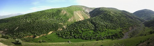 Descent to Mt. Sabalan.
