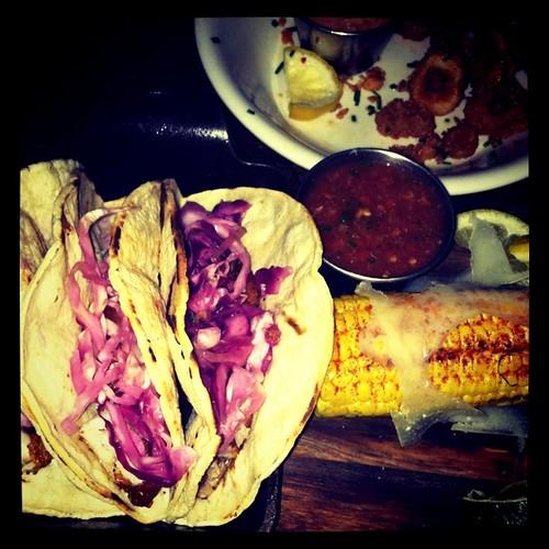 Fish tacos at Black Swan