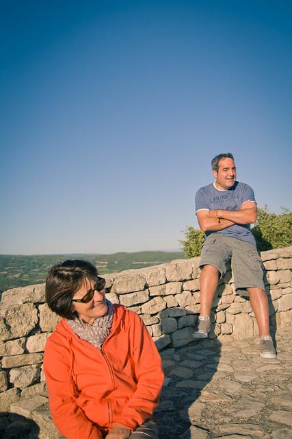 Michèle et Antoine à Saignon