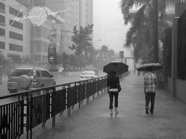 Downpour in Manila