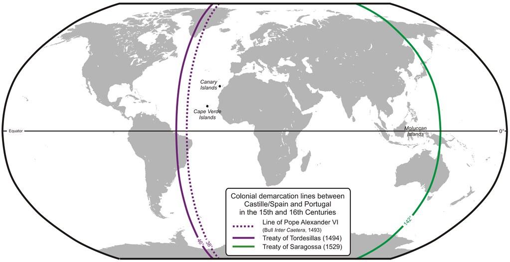 525 лет назад нашу планету поделили - без нас...