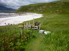 Stile,Singing Sands, Isle of Eigg