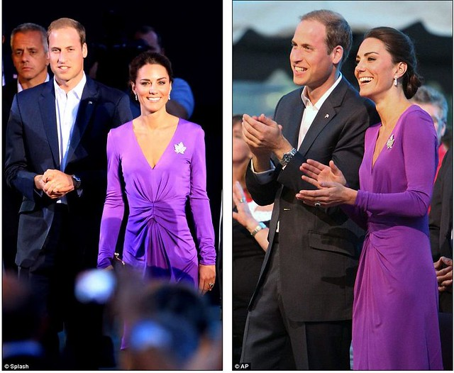 Purple princess Kate pulls off another fashion triumph as half a million turn out in Canada 2