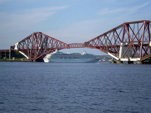 Forth Bridge and Cruise Ship