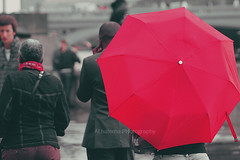 ,, ( ~ ) Tags: red london rain umbrella canon flickr