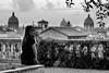 la julienne sur la terrasse (the_lighter) Tags: sunset bw rome roma nikon san tramonto bn bianconero pietro campidoglio d60 terrazza gomm cupole