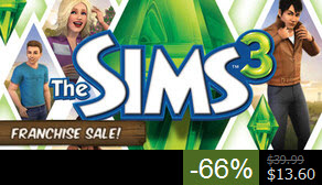 The Sims 3 Franchise Steam Sale