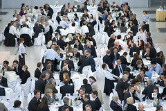 Delegates at dinner during the Summit