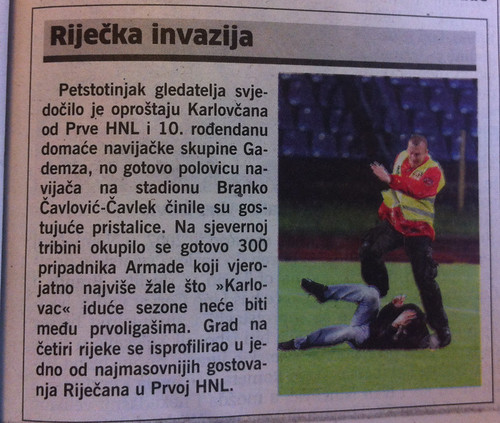 Karlovac - Rijeka 1:2 (Novi List 12.05.2012)