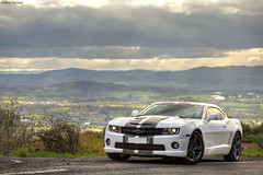 Chevrolet Camaro SS 2012 (Valkarth) Tags: usa white black france chevrolet car us gm europe general lyon muscle stripes ss wheels gray stripe eu camaro motors chevy american transformers blanc 2012 antracyte