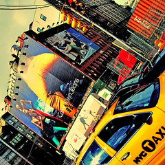urban tales (fotobananas) Tags: new york nyc urban color yellow tales cab taxi sunday saturday cliche calvinklein sliders hss hcs s95 fotobananas