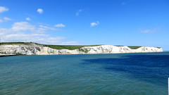 Sunny white cliffs of Dover