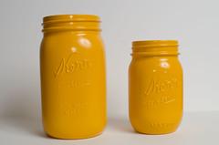 Marigold Mason Jar Set (Melanie McDougal) Tags: orange color diy paint storage masonjar jar vase cheer etsy planter marigold kerr bloomworkshop