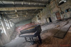 The Last Encore (Kriegaffe 9) Tags: school light music abandoned decay stage piano d600 pripyat kriegaffe9