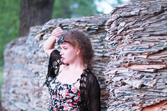 (Azarah Eells) Tags: summer sunglasses fashion canon model warm curls babe kansas lipstick americanapparel croptop canon7d