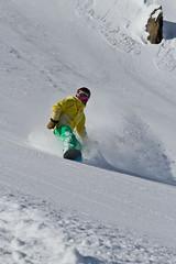 Riding (nakedst) Tags: winter mountain snow ski france mountains canon powder snowboard savoie freeride offpiste canoneos7d